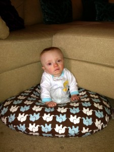 My Baby Moves Using A Boppy Pillow